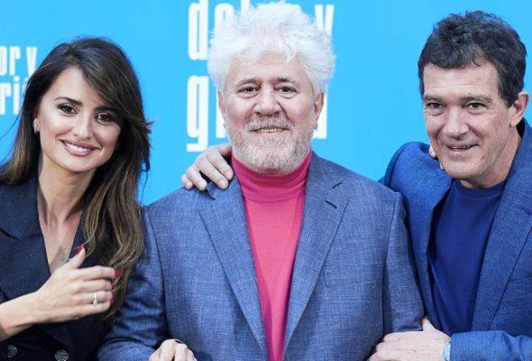 """El photocall de """"Dolor y Gloria"""", la nueva película de Pedro Almodóvar."""