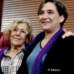 La marcha nacional contra la violencia machista. Las declaraciones de Manuela Carmena y Ada Colau